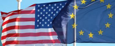 USA and EU flags