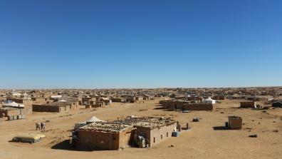 Refugee camps near the city of Tindouf in the Algerian desert. Photo credit: War on Want